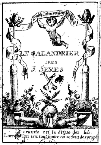 Illustration Calendrier.File Etrennes Aux Fouteurs Ou Le Calendrier Des Trois Sexes