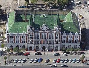 Újpest - Image: Újpestvárosházaciver tanlegi