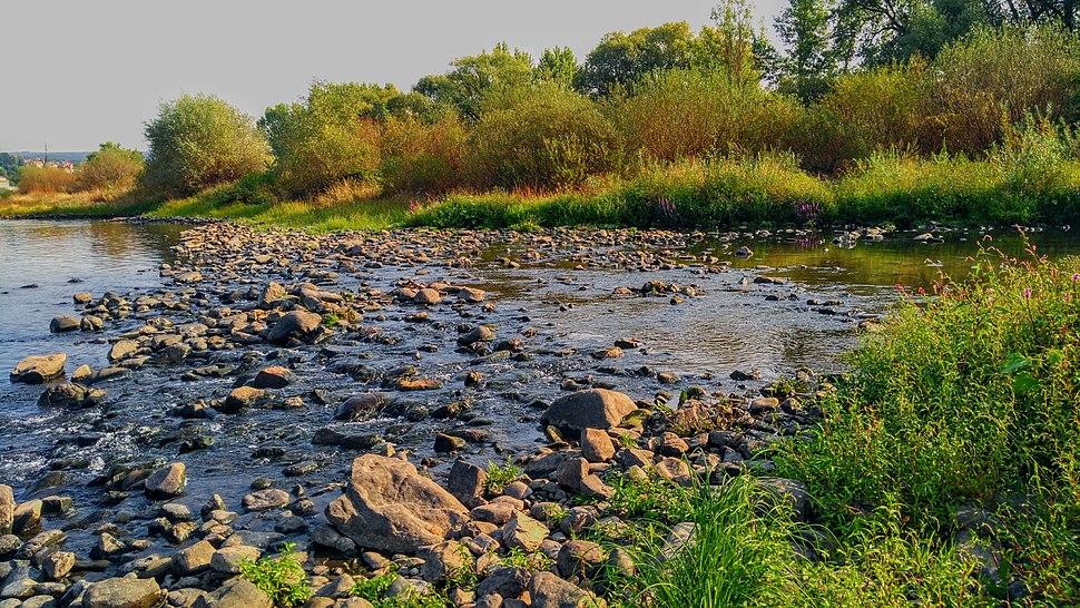 ČOV Boletice - ústí přečištěné vody do Labe