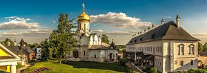 Savvino-Storozhevsky Monastery - The ashlar palace of Tsar Alexis and the katholikon from 1405