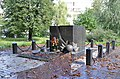 Пам'ятний знак на місці розтрілів в'язнів в роки нацистської окупації Києва.JPG