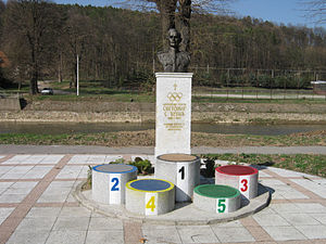 Olympic Committee of Serbia - The Monument of Svetomir Đukić, the founder of Olympic Committee of Serbia, in Valjevo