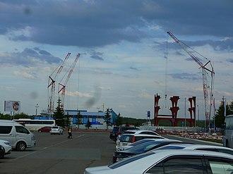 Yemelyanovo International Airport - New Terminal construction in May 2016