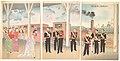 凱旋新橋ステーション御着之図-Illustration of the Arrival of the Emperor at Shinbashi Station Following a Victory (Gaisen Shinbashi stēshon gochaku no zu) MET DP147664.jpg