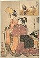 絵兄弟-A Woman Dressing a Girl for a Kabuki Dance (E-kyodai) MET DP135622.jpg