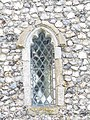-2018-12-10 West window in the porch of Saint Margaret of Antioch parish church, Suffield, Norfolk.JPG