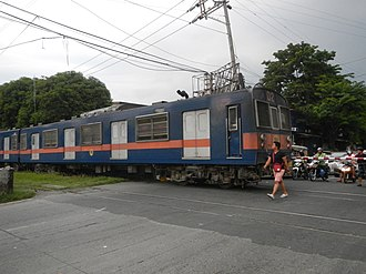 203 series - A 203 series EMU in PNR blue and orange livery in July 2016