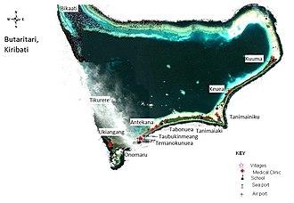 Butaritari - Map of Butaritari