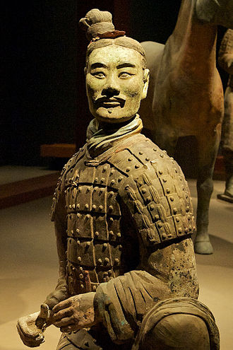 Lute (material) - Soldier from the Terracotta Army, made of several parts luted together before firing