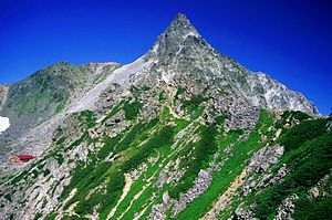 Mount Yari - Image: 05 Yarigatake from Higashikamaone 2000 8 16