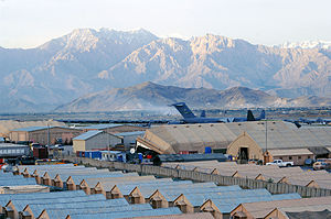 English: A view of Bagram Airfield, Afghanista...