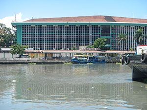 Bureau of Immigration (Philippines) - View of the Bureau of Immigration Building from Binondo across the Pasig River.