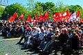 1. Mai 2011 Hannover Klagesmarkt Veteranen Bestuhlung Fahnen Jusos in der SPD.jpg