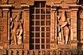1010 CE Brihadishwara Shiva Temple, dvarapalas, built by Rajaraja I, Thanjavur Tamil Nadu India.jpg