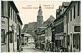 10886-Kamenz-1909-Innere Königsbrücker Straße und Hauptkirche-Brück & Sohn Kunstverlag.jpg