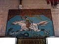 108 Castell de Santa Florentina (Canet de Mar), Sant Jordi i el Drac, al saló del tron.JPG