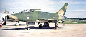 110th Bomb Squadron - 110th Tactical Fighter Squadron North American F-100D-90-NA Super Sabre 56-3208 November 1975