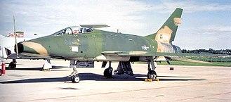 110th Bomb Squadron - 110th Tactical Fighter Squadron North American F-100D-90-NA Super Sabre 56-3208 November 1975