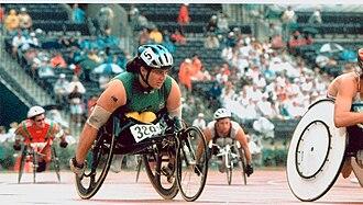 Australia at the 1996 Summer Paralympics - Atlanta 1996 - Louise Sauvage on the track.