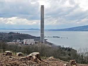 Inverkip power station - Progress as of 20 March 2013