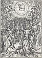 14. Albrecht Dürer, Apokalypsa, XII. Adorace Beránka, Národní galerie v Praze.jpg