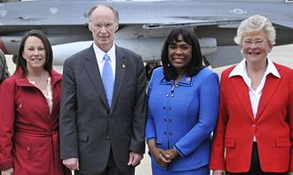 Kay Ivey - Ivey with Martha Roby, Robert J. Bentley, and Terri Sewell in 2014