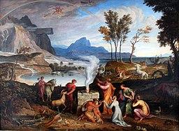 Dziękczynna ofiara Noego, 1814