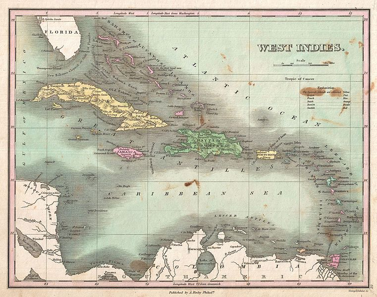 File:1827 Finley Map of the West Indies, Caribbean, and Antilles - Geographicus - WestIndies-finley-1827.jpg