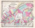 1854 Colton Map of Quebec, Montreal and New Brunswick, Canada - Geographicus - LowerCanada-colton-1855.jpg