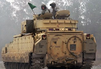 185th Armor Regiment - Soldiers from the 185th Armor conduct Mechanized Infantry Training at Camp Shelby in October 2008.