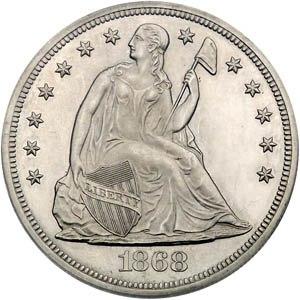 1868 dollar obv