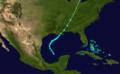 1892 Atlantic tropical storm 4 track.png