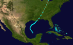 1892 Atlantic tropical storm 4 track.png