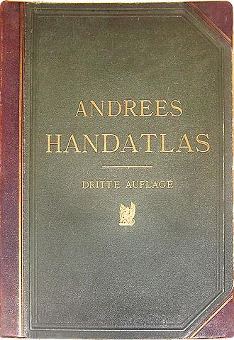 Andrees Allgemeiner Handatlas - Cover of the third edition of Andrees Allgemeiner Handatlas, 1896.