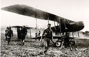 Portuguese Air Force - Portuguese Farman F.40 in Mozambique, during the East African Campaign of World War I.