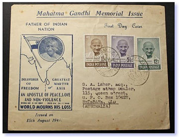 1948 India Gandhi first day cover.jpg