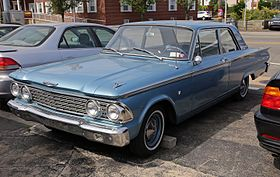 1962 Ford Fairlane 500 2 Door Club Sedanfront Left