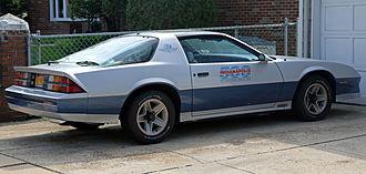 Chevrolet Camaro (third generation) - 1982 Indy 500 Pace Car replica