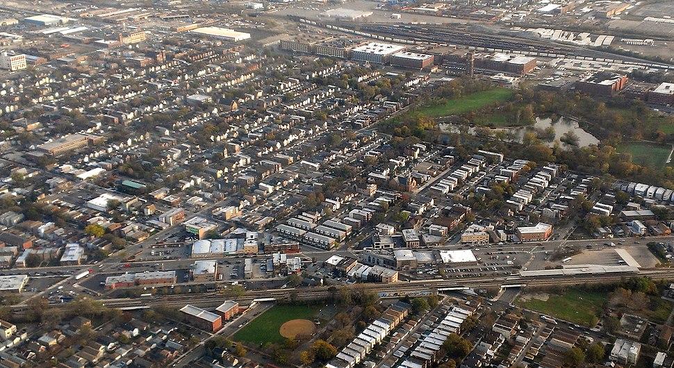 Aerial view of the McKinley Park neighborhood.