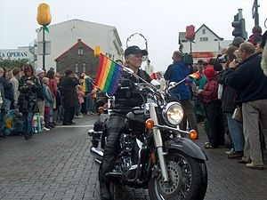 Dykes on Bikes - Dykes On Bikes at Reykjavík's 2004 Gay Pride parade in Iceland.