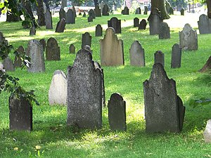 Central Burying Ground, Boston - Central Burying Ground, Boston Common, 2008