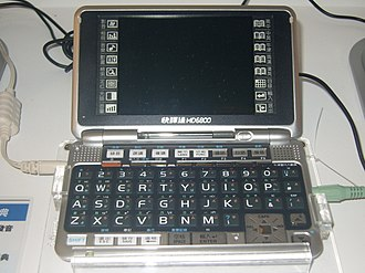 Electronic dictionary - A typical handheld electronic dictionary, showing Instant-Dict (快譯通) MD6800.
