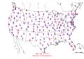 2009-06-14 Max-min Temperature Map NOAA.png