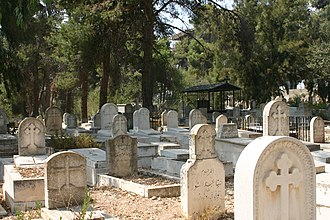 Ramallah - An old Christian cemetery in Ramallah.