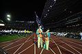 201000 - Opening Ceremony swimmer Brendan Burkett flag 2 - 3b - 2000 Sydney opening ceremony photo.jpg