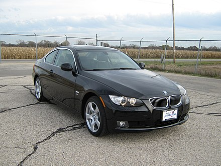 A BMW 328i, similar to the car used by Rodger in the attacks. 2010 BMW 328i coupe -- NHTSA 01.jpg