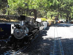 Train Mountain Railroad - Image: 20110827 Live Steamer K WRR Train Mtn 0003