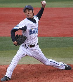 20130421 Shinji Ohara, pitcher of the Yokohama DeNA BayStars, at Yokohama Stadium.JPG