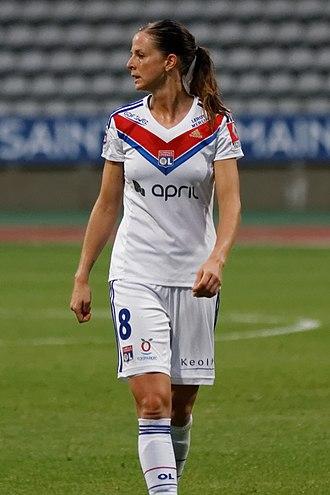Lotta Schelin - Playing for Lyon in 2013