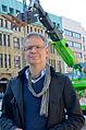 2014-05-30 Architekt Volker Stengele aus Frankfurt beim WeinSensorium-Aufbau an der Goseriede in Hannover.jpg